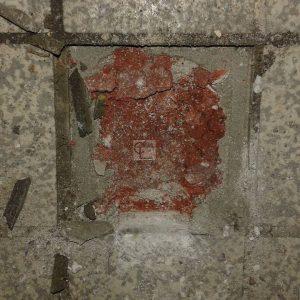 Ancienne cole Berthelot  Roubaix Sous le carrelage ragrage rougehellip