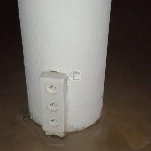 Poteau avec coffrage perdu en amiante ciment dans un entrepthellip